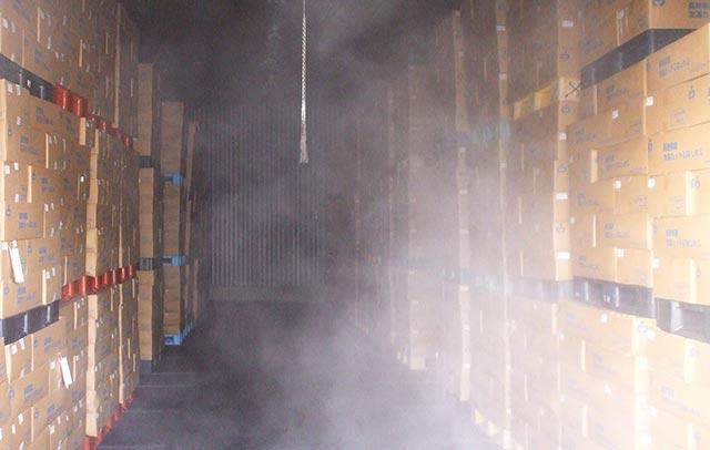 冷凍倉庫での保管のイメージ